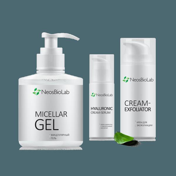 Программа ухода против морщин с гиалуроновой сывороткой NeosBioLab